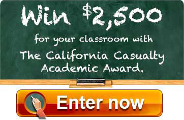 Enter to Win the Academic Award from California Casualty