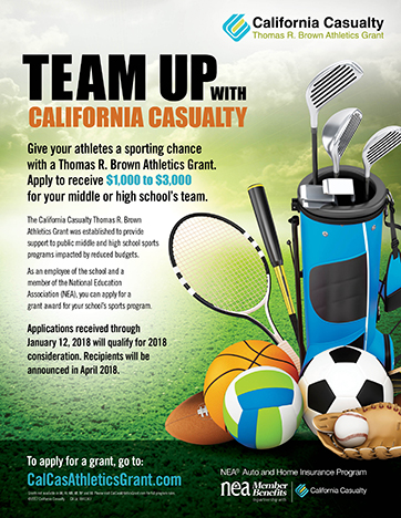 California Casualty's Thomas R. Brown Athletics Grant Flyer