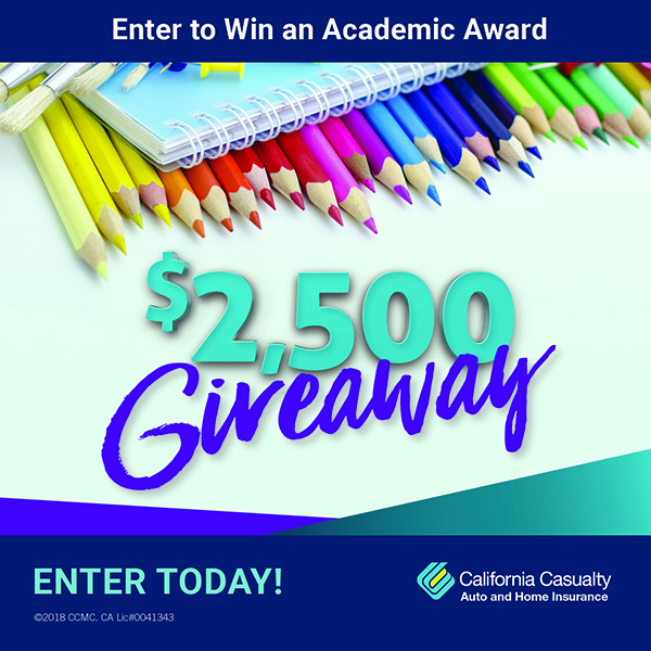 Enter to win the California Casualty Academic Award, click here