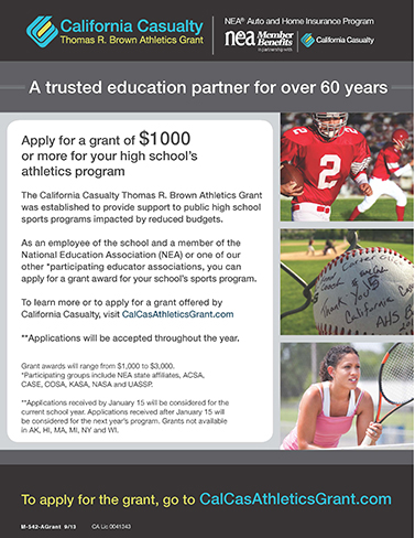 Thomas R. Brown Athletics Grant by California Casualty