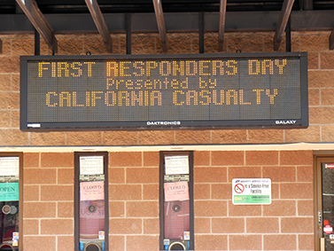 California Casualty sponsors First Responders Night