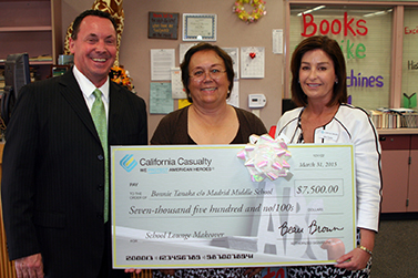 Bonnie Tanaka Winner of School Lounge Makeover