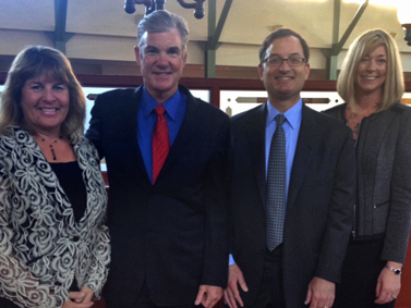 California Superintendent of Public Instruction Tom Torlakson with California Casualty